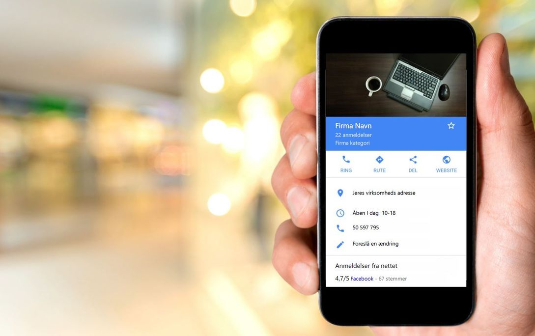 Online synlighed på smartphone via Google My Business
